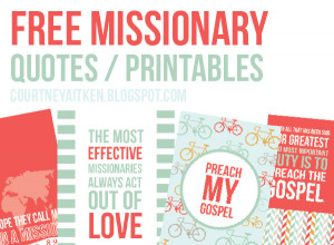 DEAR MISSIONARY: MISSIONARY PRINTS (SISTER)