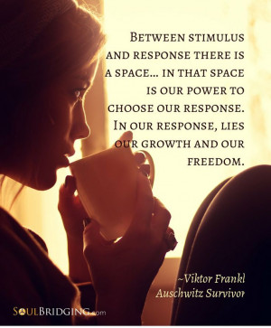 Quote: Between stimulus and response there is a space... in that space ...