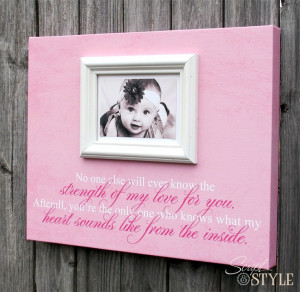 Frame Canvas With Baby Quote, Baby Boy or Girl Nursery Picture Frame ...