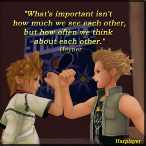 was playing the game the other day, and hayner said that quote.