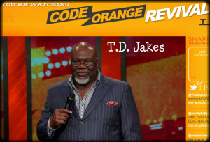 This article is a review of T.D. Jakes' Code Orange Revival sermon ...