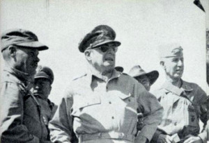 ... colonel puller general macarthur general smith above we see colonel