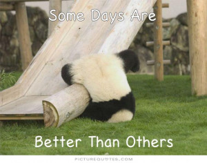 Some days are better than others Picture Quote #1
