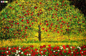 Gustav Klimt Der Apfelbaum