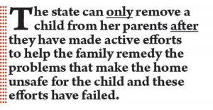 The state can only remove a child from her parents after they have ...
