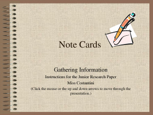Note Cards Quote by MikeJenny