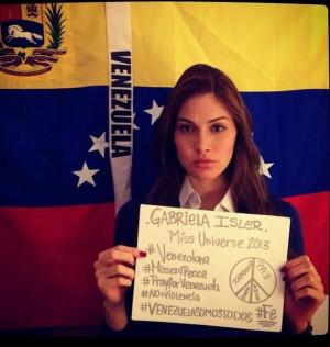 Nuestra Miss Universo 2013, Gabriela Isler se Pronuncia en Apoyo a # ...
