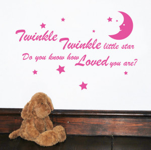 Twinkle Twinkle Little Star Wall Sticker Quote by Serious Onions Ltd ...