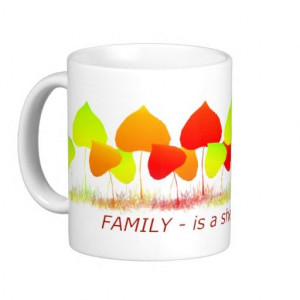 Family Quote Sheltering Tree Colorful Leaves