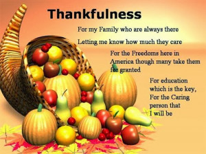 Meaning Thanksgiving Poems For Family