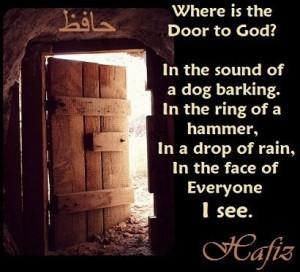 Hafiz Di mana Tuhan? Dalam gonggongan anjing, dalam denting palu ...