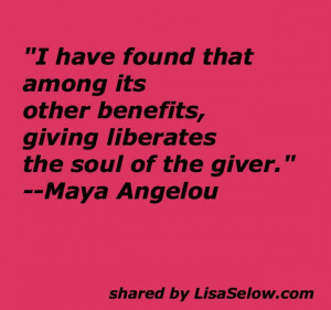 love this quote by Maya Angelou!