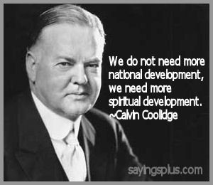 Calvin Coolidge Quotes about Faith and Religion