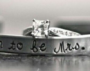 Soon to be Mrs ring