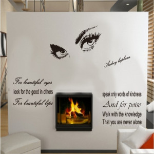 DIY wall stickers marilyn monroe eyes inspirational quotes home decor ...