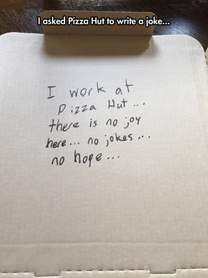 Asking Pizza Hut To Be Funny