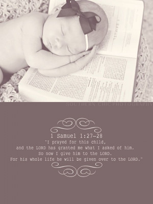 Bible verse on Dalton's birth announcements!!