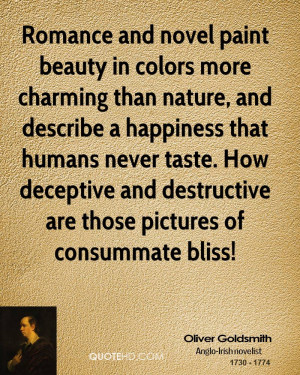Romance and novel paint beauty in colors more charming than nature ...
