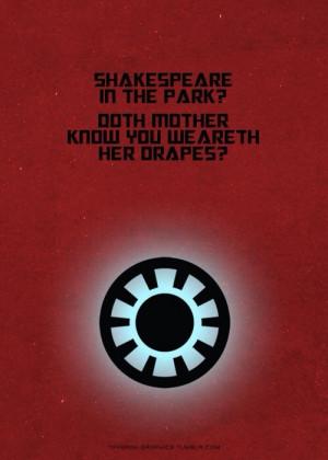 Avengers quote- Tony Stark