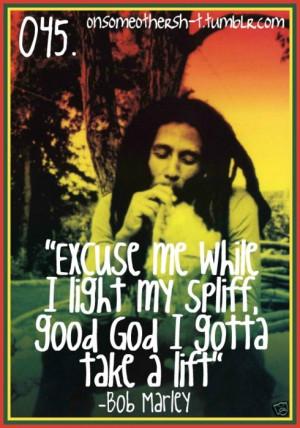 Bob Marley Smoking Quotes Weed