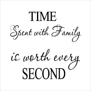 TIME-SPENT-WITH-FAMILY-Wall-Quote-Clock-Modern-Home-Decor-Decal-Vinyl ...