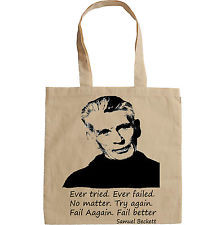 SAMUEL BECKETT QUOTE - NEW AMAZING GRAPHIC HAND BAG/TOTE BAG