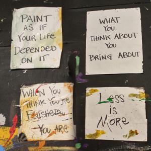 Jonas Gerard painting wall quotes