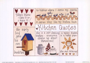 Kitchen Quotes, Art Print by Carol Robinson, Extra Small paper size, 7 ...