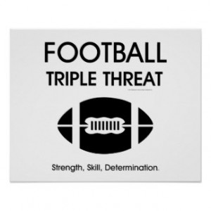 TOP Football Triple Threat Print