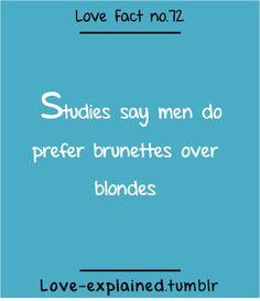 Love facts (love,blonde,brunette,fashion,beauty,style,makeup,blue ...