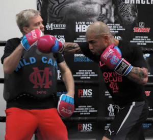 MIGUEL COTTO LOS ANGELES MEDIA WORKOUT