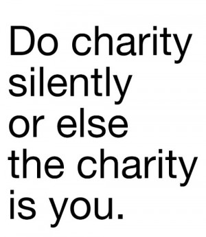 Anonymous charity. When you donate or volunteer, the joy and value of ...