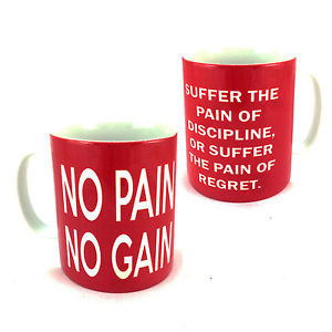 NO-PAIN-NO-GAIN-QUOTE-CUP-MUG-GIFT-SLOGAN-WEIGHT-TRAINING-EXERCISER ...