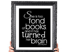 Reading Quote Print Gift for Book Lover Library Decor 8x10