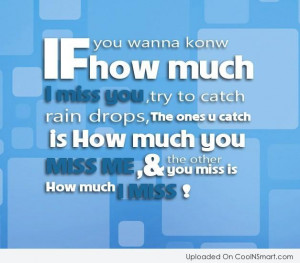 Missing You Quote: If you wanna know how much I...