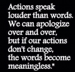Actions speak louder than words #quote