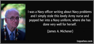 was a Navy officer writing about Navy problems and I simply stole ...