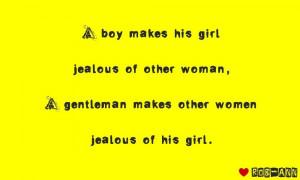 gentleman makes other woman jealous of his girl