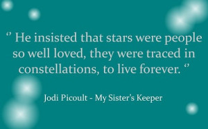 Jodi Picoult. My Sister's Keeper.