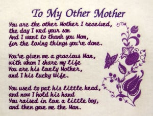 Mothers Day Quotes From Daughter In Law ~ Mother in law quotes love ...