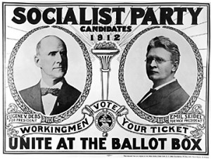 The official campaign poster for the 1912 election.]