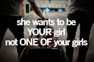 She wants to be your girl