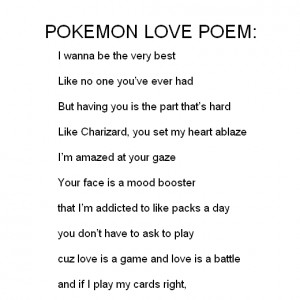 POKEMON LOVE POEM,all about it.