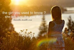 brunetha, girl, quotes, she left