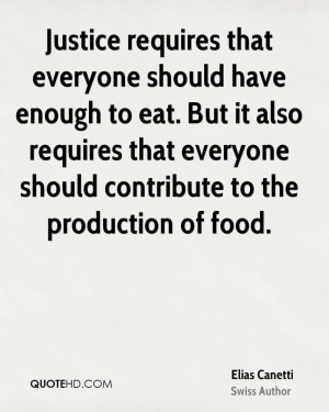 Elias Canetti Food Quotes