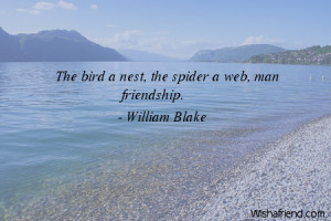 beach-The bird a nest, the spider a web, man friendship.