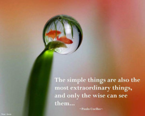 The simple things are also the most extraordinary things, and only the ...