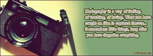 Awesome New FB Quotes http://www.fb-cover.net/photography-quote