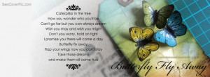 Butterfly Fly Away Beautiful Poem Fb Cover Pic