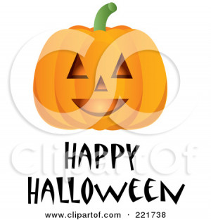 Happy Funny Pumpkin Face...